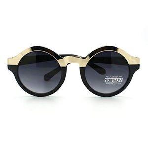 Woman's Metallic top circle sunglasses 😎